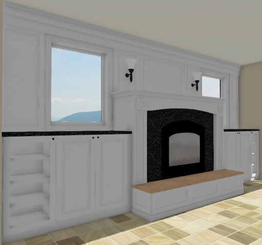 Custom Cabinets for Fireplace Built In (Patterson Drive)