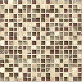 "Eclipse 5/8"" X 5/8"" Wall Mosaic in Merlot, Sold by the Piece"