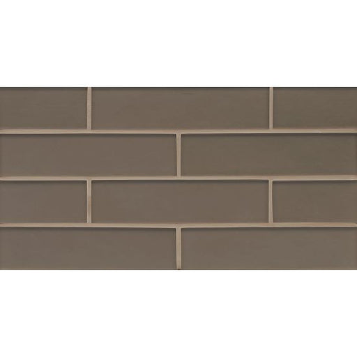 "Manhattan Matte 2"" x 8"" Wall Mosaic in Ash, Sold by the Piece"