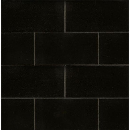 "Absolute Black 3"" x 6"" Honed Floor and Wall Tile, Sold by the Carton"