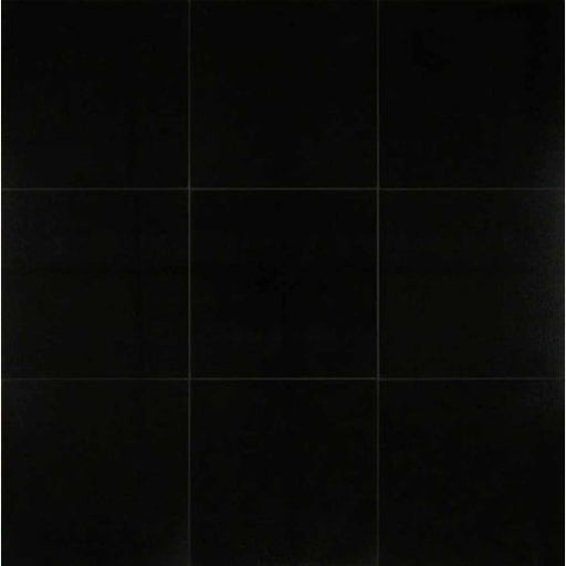 "Absolute Black 12"" x 12"" Honed Floor and Wall Tile, Sold by the Carton"
