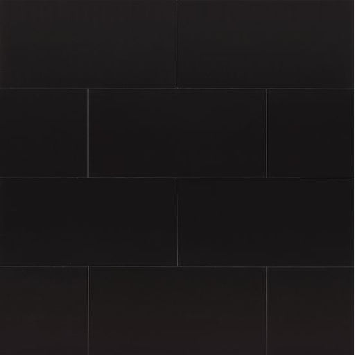 "Absolute Black 12"" x 24"" Wall Tile, Sold by the Carton"