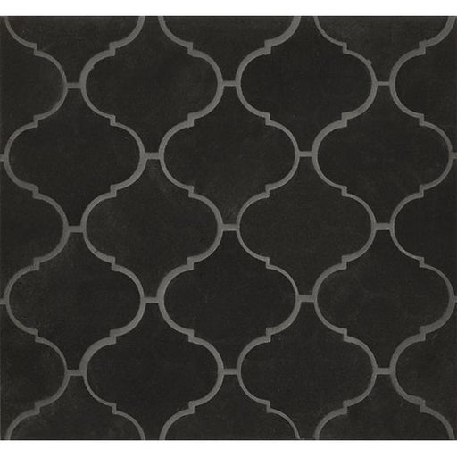 Absolute Black Arabesque Wall Mosaic, Sold by the Piece