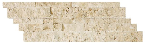 Travertine Stacked Stone, Ivory (Per Square Foot)