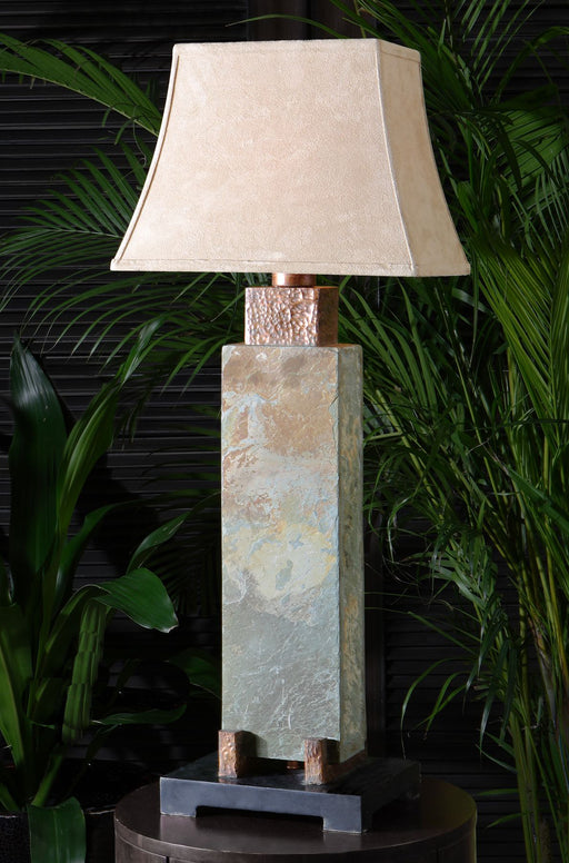 Tall Slate Table Lamp