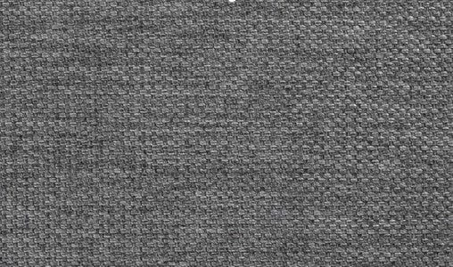 Close-up of medium gray menswear upholstery fabric, soft-to-the-touch and 100% polyester