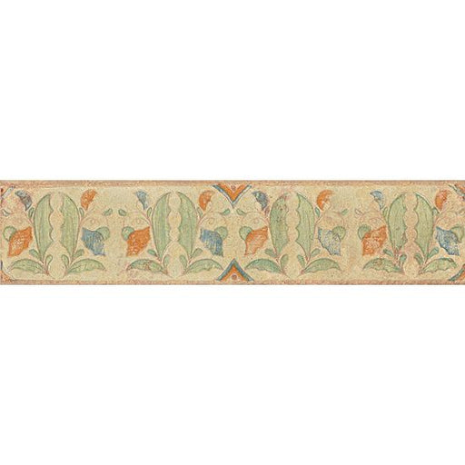 "Cotto Nature Gloss 3"" x 14"" Tira Hand Painted Liner Trim in Tira Versilia, Sold by the Piece"
