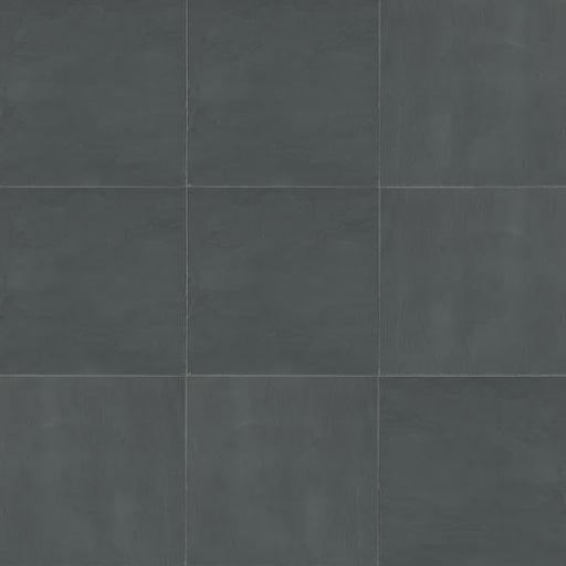 "Andhra Black 16"" x 16"" Floor and Wall Tile, Sold by the Carton"