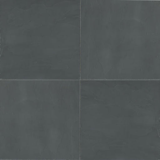 "Andhra Black 24"" x 24"" Floor and Wall Tile, Sold by the Carton"