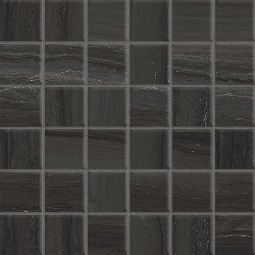"Highland 2"" x 2"" Floor and Wall Mosaic in Black, Sold by the Piece"