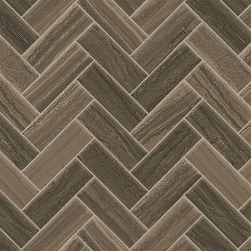 "Highland 1"" x 4"" Floor and Wall Mosaic in Cocoa, Sold by the Piece"