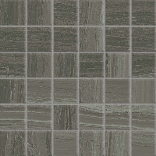 "Highland 2"" x 2"" Floor and Wall Mosaic in Dark Greige, Sold by the Piece"