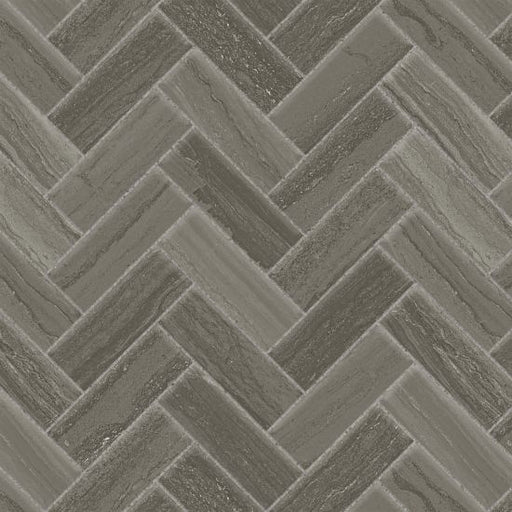 "Highland 1"" x 4"" Floor and Wall Mosaic in Dark Greige, Sold by the Piece"