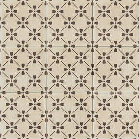 "Palazzo 12"" X 12"" Decorative Tile in Antique Cotto Bloom, Sold by the Piece"