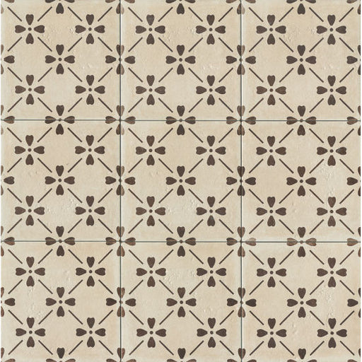 "Palazzo 12"" x 12"" Decorative Tile in Antique Cotto Bloom, Sold by the SF"