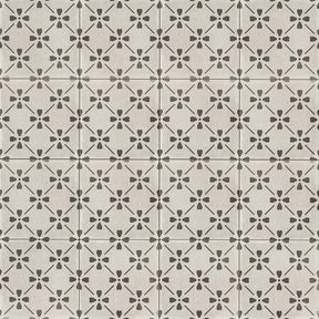 "Palazzo 12"" X 12"" Decorative Tile in Castle Graphite Bloom, Sold by the Piece"