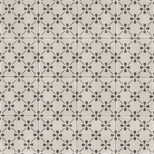 "Palazzo 12"" x 12"" Decorative Tile in Castle Graphite Bloom, Sold by the Carton"