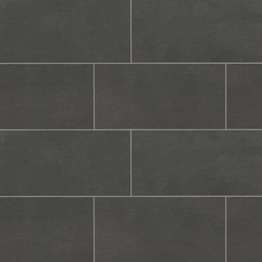 "Simply Modern 12"" x 24"" Floor and Wall Tile in Black, Sold by the Carton"