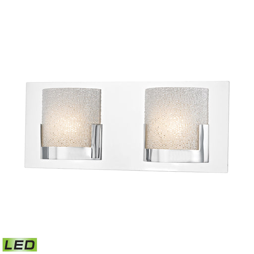 ELK Lighting BVL1202-0-15 2 Light LED Vanity In Chrome And Clear Glass Chrome Free Parcel Delivery