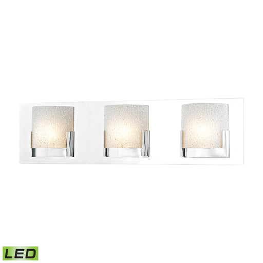 ELK Lighting BVL1203-0-15 3 Light LED Vanity In Chrome And Clear Glass Chrome Free Parcel Delivery