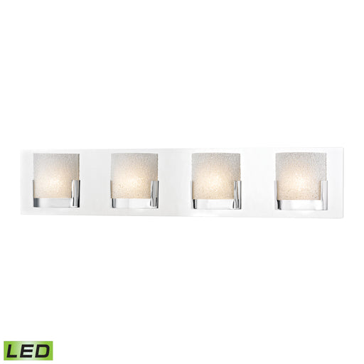 ELK Lighting BVL1204-0-15 4 Light LED Vanity In Chrome And Clear Glass Chrome Free Parcel Delivery