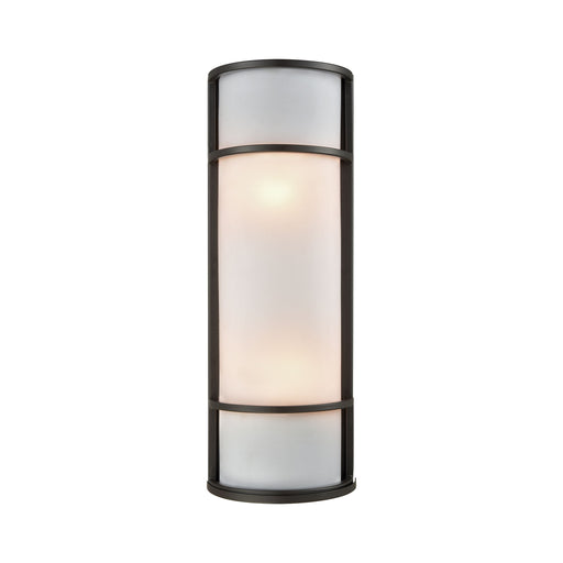 Thomas Lighting CE932171 Bella 1 Light Outdoor Wall Sconce In Oil Rubbed Bronze With A White Acrylic Diffuser Oil Rubbed Bronze