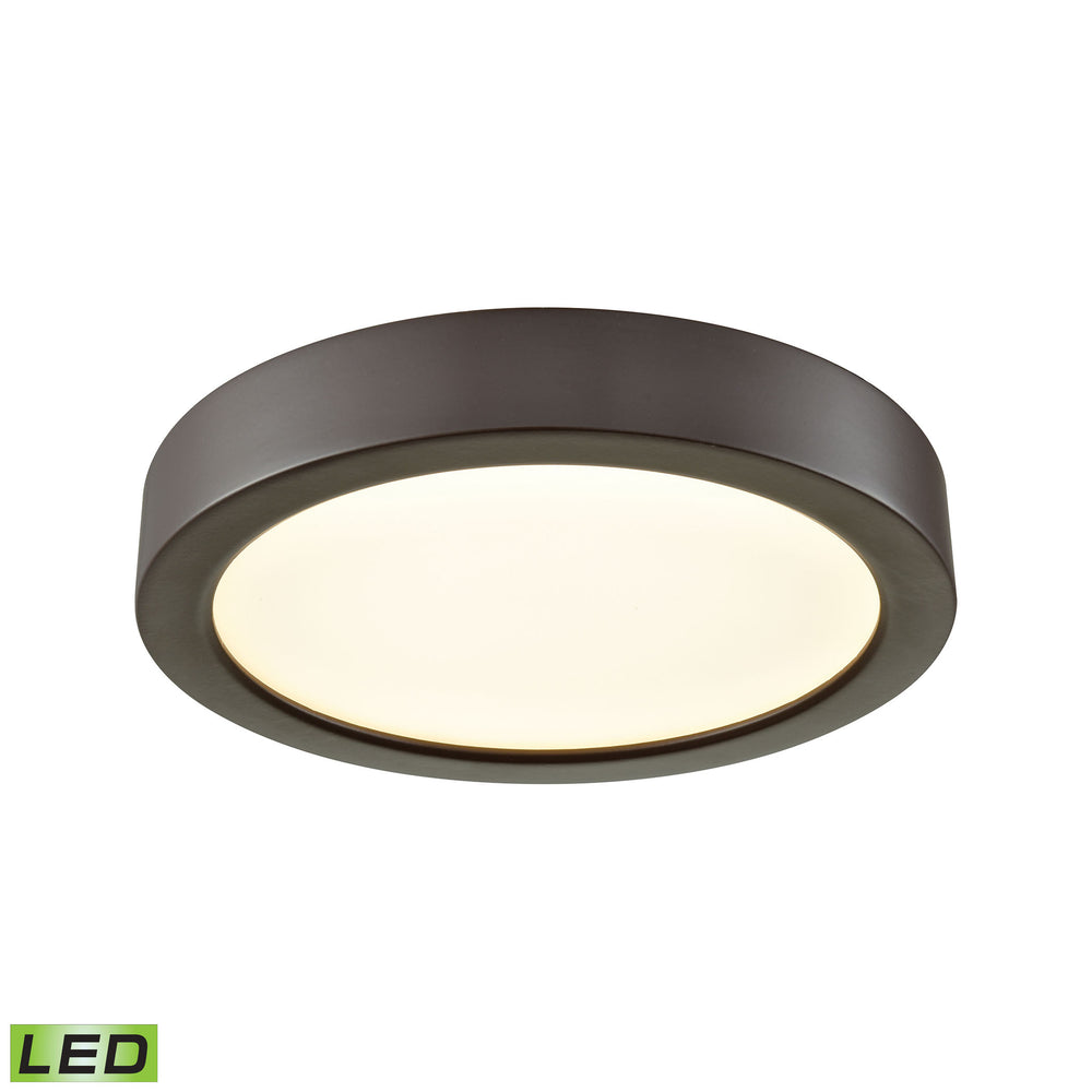 "Thomas Lighting CL781031 Titan 6"" LED Flush In Oil Rubbed Bronze With A White Acrylic Diffuser Oil Rubbed Bronze"