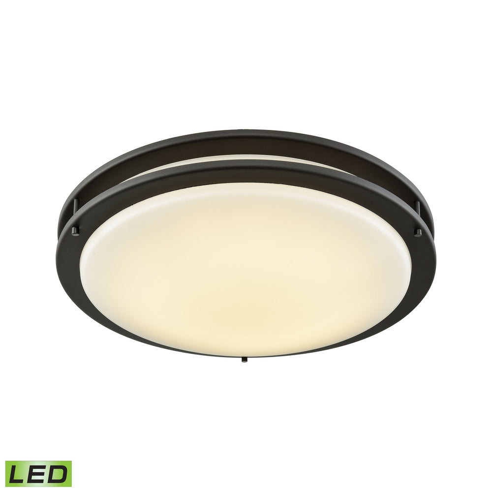 "Thomas Lighting CL782031 Clarion 18"" LED Flush Mount In Oil Rubbed Bronze With A White Acrylic Diffuser Oil Rubbed Bronze"