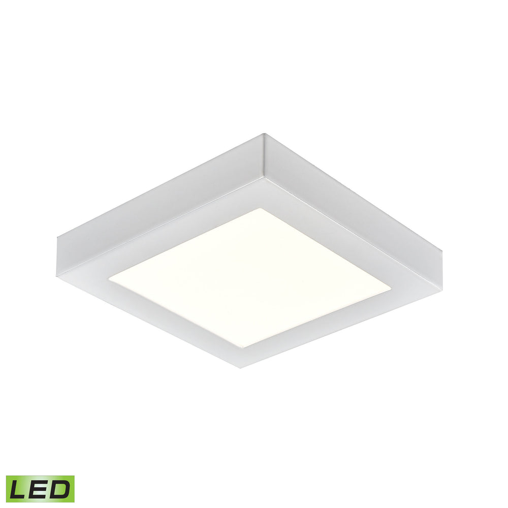 "Thomas Lighting CL791334 Ceiling Essentials Titan 5.5"" Square Flush Mount In White - Integrated LED White"