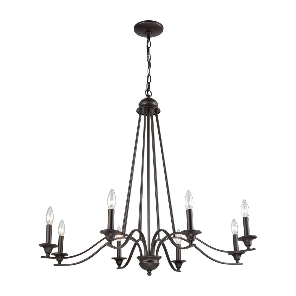 Thomas Lighting CN110821 Farmington 8 Light Chandelier In In Oil Rubbed Bronze Oil Rubbed Bronze