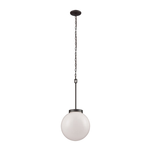 Thomas Lighting CN120041 Beckett 1 Light Pendant In Oil Rubbed Bronze With Opal White Glass Oil Rubbed Bronze