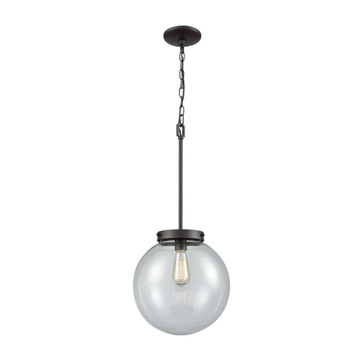 Thomas Lighting CN129041 Beckett 1 Light Pendant In Oil Rubbed Bronze With Clear Glass Oil Rubbed Bronze