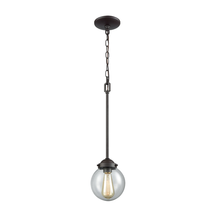 Thomas Lighting CN129151 Beckett 1 Light Pendant In Oil Rubbed Bronze With Clear Glass Oil Rubbed Bronze