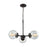 Thomas Lighting CN129321 Beckett 3 Light Chandelier In In Oil Rubbed Bronze With Clear Glass Oil Rubbed Bronze