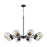 Thomas Lighting CN129821 Beckett 8 Light Chandelier In In Oil Rubbed Bronze With Clear Glass Oil Rubbed Bronze