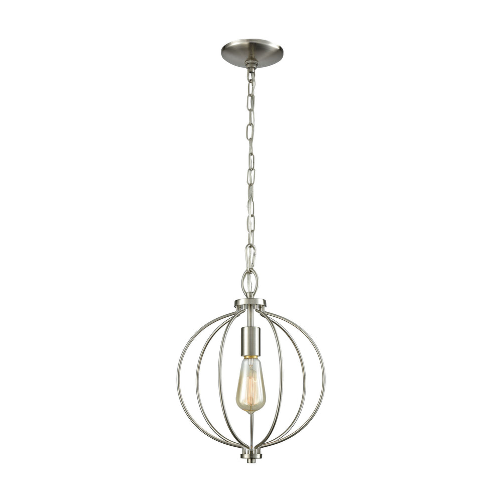 Thomas Lighting CN15712 Williamsport 1 Light Pendant In Brushed Nickel Brushed Nickel