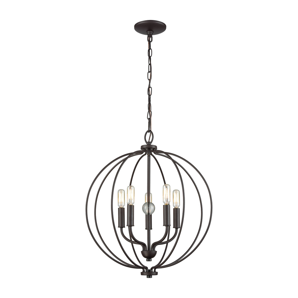Thomas Lighting CN15751 Williamsport 5 Light Chandelier In In Oil Rubbed Bronze With Clear Glass Ball Oil Rubbed Bronze