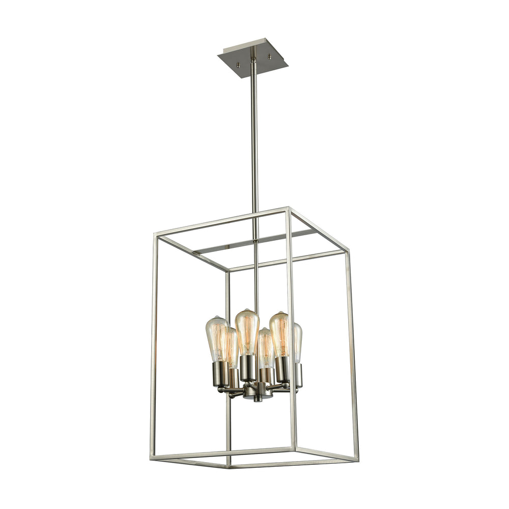 Thomas Lighting CN15862 Williamsport 6 Light Chandelier In In Oil Brushed Nickel Brushed Nickel