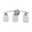 Thomas Lighting CN170312 Casual Mission 3 Light For The Bath In Brushed Nickel With White Lined Glass Brushed Nickel