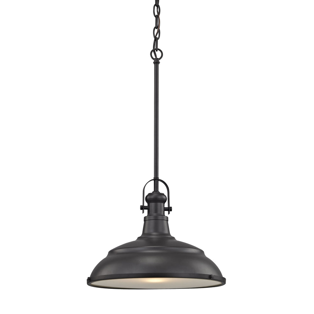 Thomas Lighting CN200141 Blakesley 1 Light Pendant In Oil Rubbed Bronze With Frosted Glass Oil Rubbed Bronze