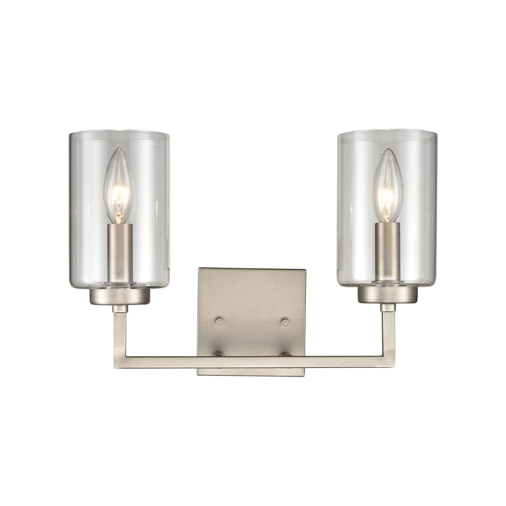 Thomas Lighting CN240122 West End 2 Light Bath Light In Brushed Nickel Brushed Nickel