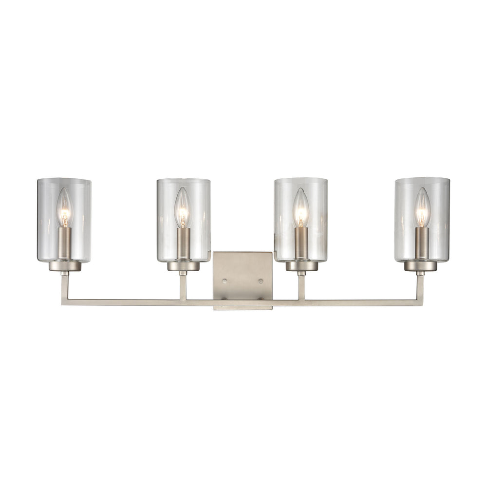 Thomas Lighting CN240142 West End 4 Light Bath Light In Brushed Nickel Brushed Nickel