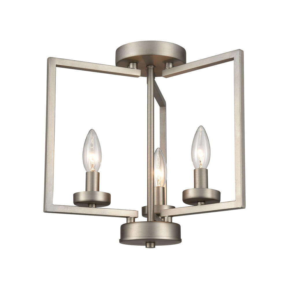 Thomas Lighting CN240382 West End 2 Light Semi Flush In Brushed Nickel Brushed Nickel