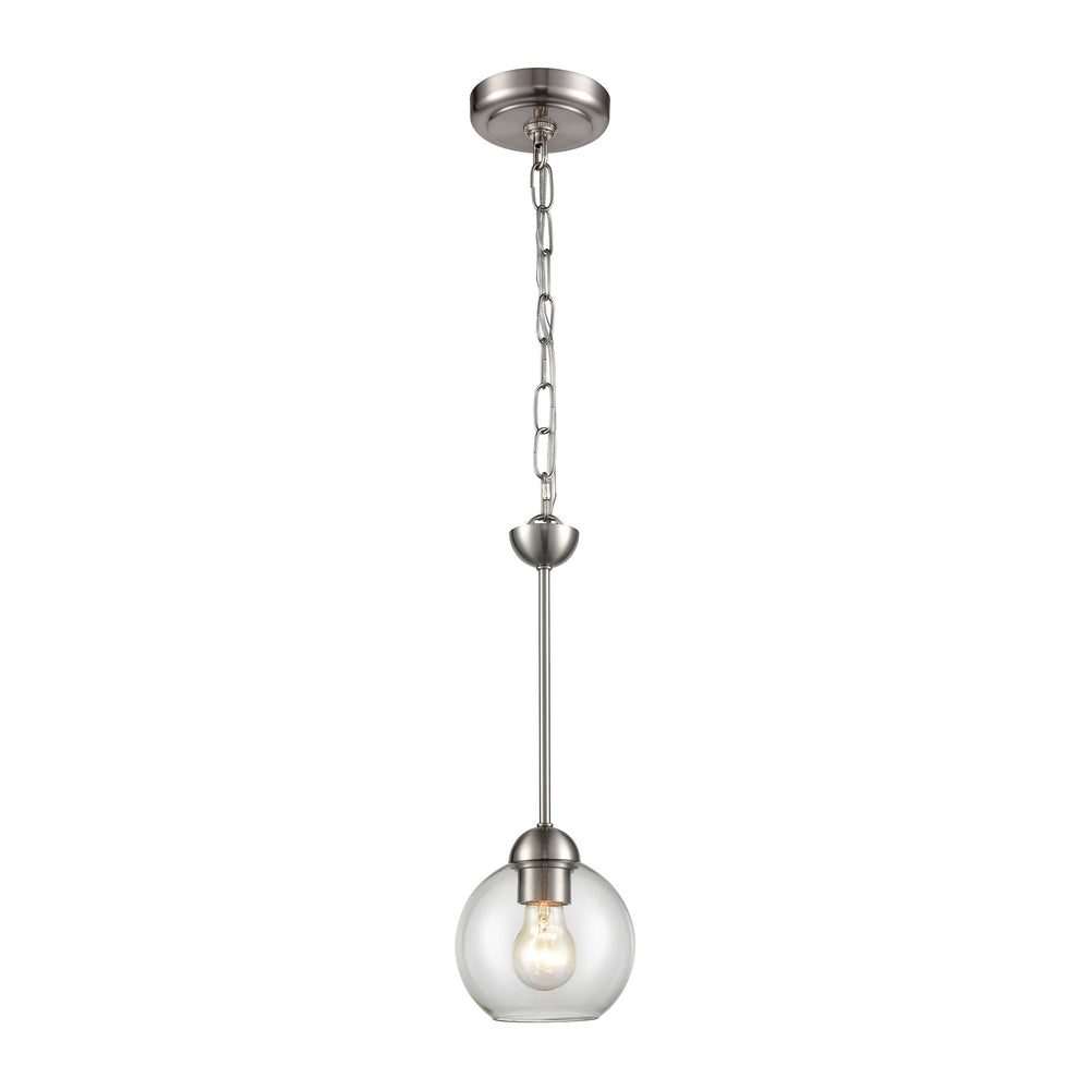 Thomas Lighting CN280152 Astoria 1 Light Mini Pendant In Brushed Nickel Brushed Nickel