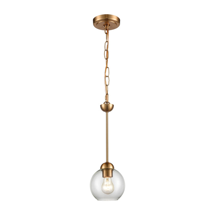 Thomas Lighting CN280155 Astoria 1 Light Mini Pendant In Satin Gold Satin Gold