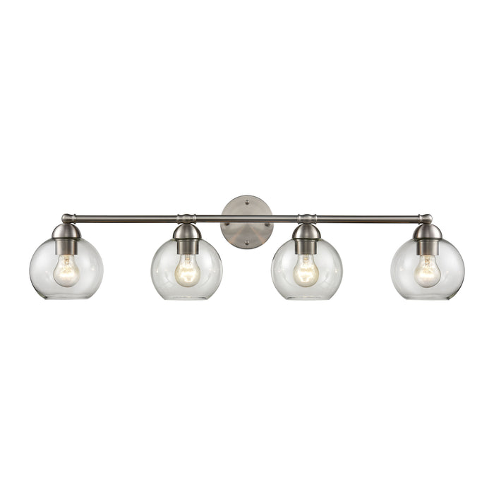 Thomas Lighting CN280412 Astoria 4 Light Bath Bar In Brushed Nickel Brushed Nickel