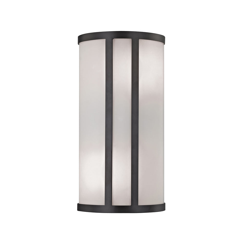 Thomas Lighting CN510571 Bella 2 Light Wall Sconce In Oil Rubbed Bronze With White Glass Diffuser Oil Rubbed Bronze