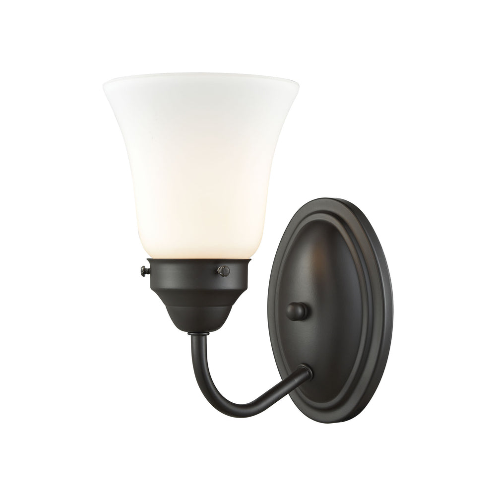 Thomas Lighting CN570171 Califon 1 Light For The Bath In Oil Rubbed Bronze With White Glass Oil Rubbed Bronze