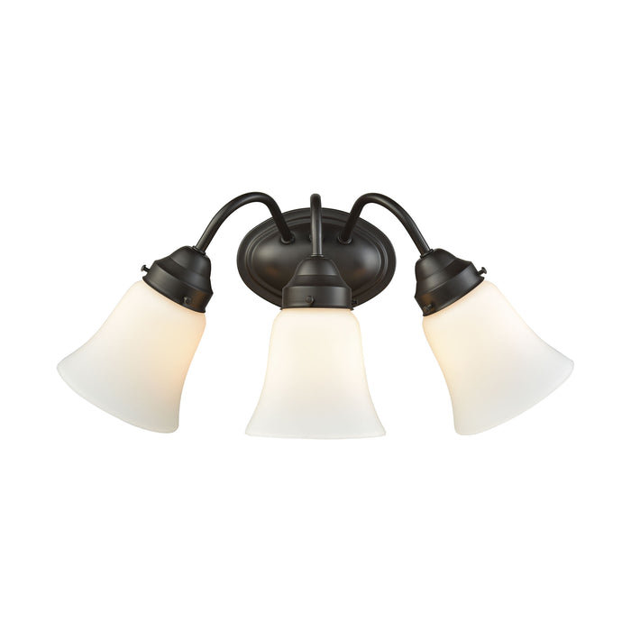 Thomas Lighting CN570311 Califon 3 Light For The Bath In Oil Rubbed Bronze With White Glass Oil Rubbed Bronze