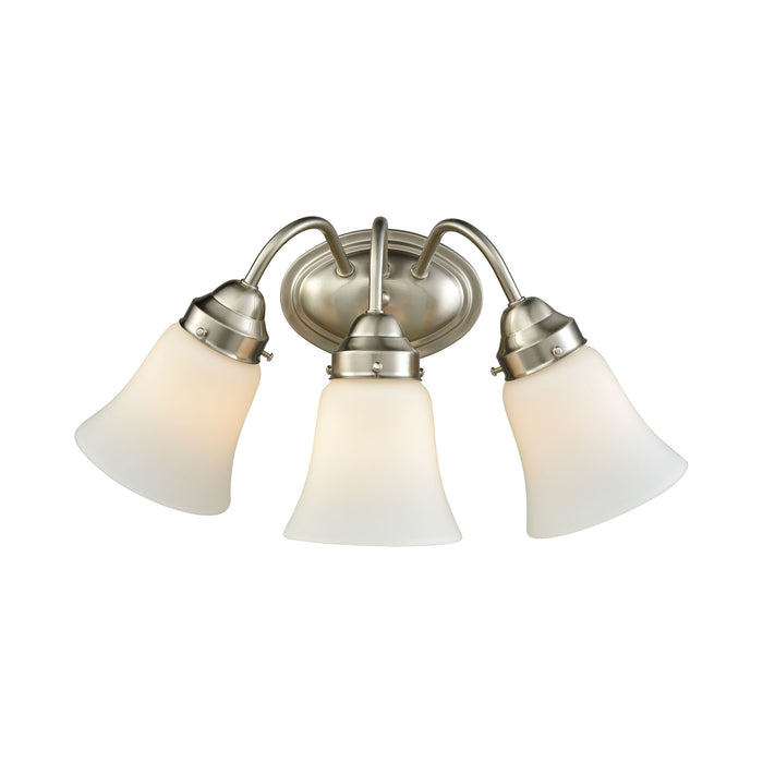 Thomas Lighting CN570312 Califon 3 Light For The Bath In Brushed Nickel With White Glass Brushed Nickel